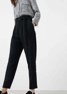 Pantalon nœud | MANGO