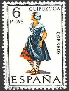 TRAJES TIPICOS ESPAÑOLES ... EN SELLOS POSTALES - Guipúzcoa - España
