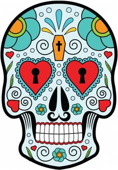 Sticker Calavera - Tete De Mort Mexicaine 11 - ref.d7449 | MPA Déco