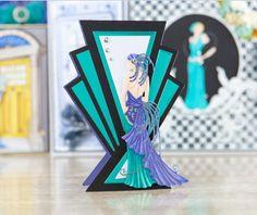 Make timeless and elegant card designs with the @tatteredlaceuk Art Deco Range! / cardmaking / papercraft / scrapbooking / 1920s