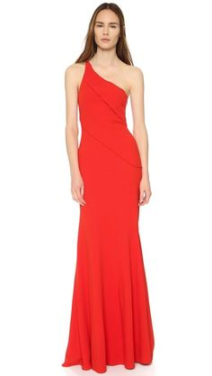 Narciso Rodriguez One Shoulder Gown