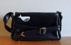 i love the buckle. and the whale, of course. Navy Blue Purse, Whale, Shoulder Strap, Hand Painted, Hands, Purses, Classic, Vintage, Handbags