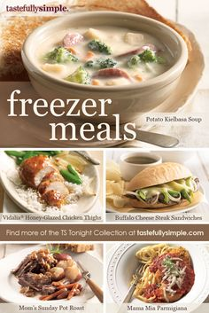 Easy and delicious freezer meal recipes for busy weeknights!