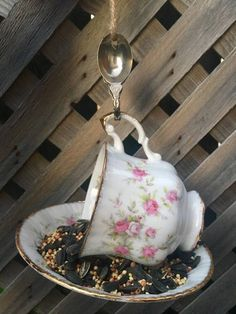 Items similar to Paragon Victoriana Rose Teacup Bird Feeder with Bahamas Souvenir Spoon, tea cup bird feeder, bird feeder, Paragon teacup, garden decor on Etsy Glass Flowers, Silver Spoons, Perfect Gift For Her, Garden Ornaments, Upcycled Vintage, Teacup, Bird Feeders, Owls, Gifts For Mom
