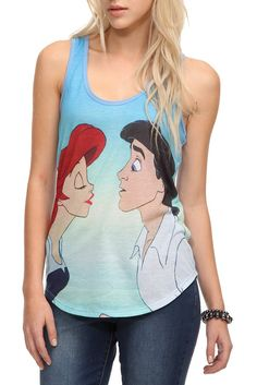 8c3791ab2433e Disney The Little Mermaid Ariel Eric Girls Tank Top Mermaid Tank Top