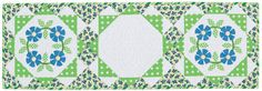 Garden Wreath Table Runner.  Register with Martingale and download FREE patterns like this one!