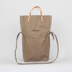 Messenger Bag in Khaki Canvas
