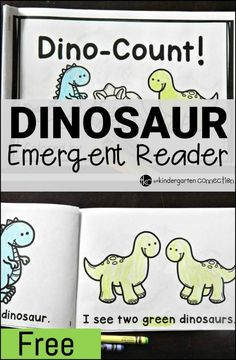 This dinosaur emergent reader is great for beginning readers who are dinosaur fans! Work on color words, number words, and sight words too!