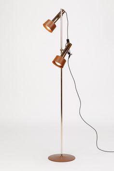 Swiss Brass Floor Lamp Spots 60's