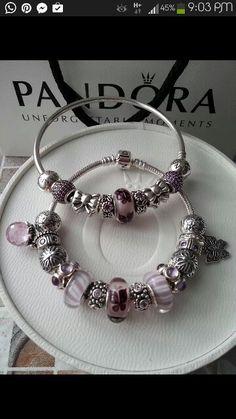 Bracelet Pandora Papillon Rose Violet Bijoux et charms Pandora à retrouver sur www.bijoux-et-charms.fr