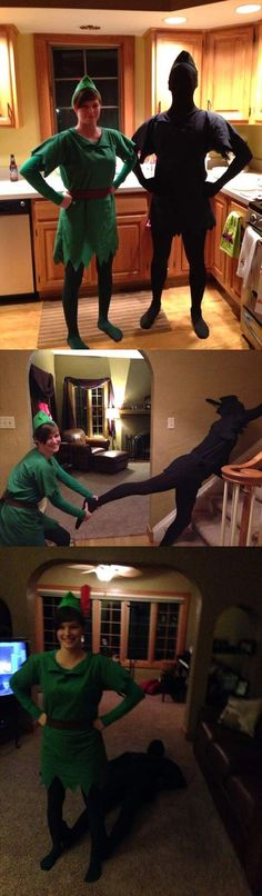 Funny pictures about Peter Pan and his shadow. Oh, and cool pics about Peter Pan and his shadow. Also, Peter Pan and his shadow. Costume Halloween, Carnaval Costume, Cool Costumes, Halloween Diy, Cosplay Costumes, Happy Halloween, Halloween Couples, Best Friend Holloween Costumes, Two People Halloween Costumes