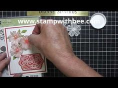 Embossed Vellum Flower Video - YouTube Video 10:15 min with Dianne Sisneros  These flowers were made with the Flower Shop stamp set, stamped with Versamark, and heat embossed