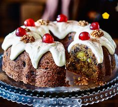 Half-cake, half-stollen, this last-minute Christmas bake doesn't need to mature, and is bursting with festive flavours, mixed spice, dried fruit and nuts