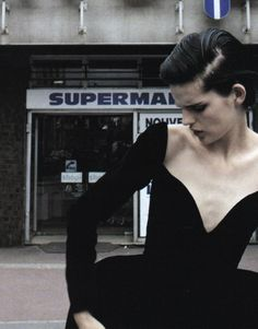 """Ballgowns"" | Model: Stella Tennant | Photograph by Mark Borthwick | Vogue Italia | September 1995"