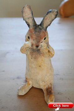 I have created this handmade rabbit a papier mache sculpture. He is inspired my the local nature reserve meadow in Hamble Valley, the meadow is called 'bunny meadows' as it is always full of white tailed rabbits. One of a kind sculpture. He arrives to.