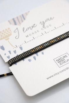 I love you Morse code bracelet for boyfriend Anniversary gift for him secret message friendship bracelet husband custom couples bracelet Valentines Day For Boyfriend, Message For Boyfriend, Valentines Day Gifts For Him, Boyfriend Gifts, Morse Code Tattoo, Morse Code Words, Diy Jewelry Inspiration, Jewelry Ideas, Jewelry Gifts