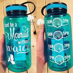 Hey, I found this really awesome Etsy listing at https://www.etsy.com/listing/449575790/cant-be-a-mermaid-without-water-bottle