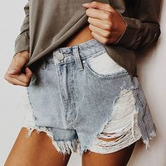 ◇ STAPLE DENIM ◇ We LOVE our Abrand Firecracker High Relaxed Shorts // The ultimate wardrobe must-haves ⚡️️ Pair them with a tee and you're set -- Online now #PrincessPolly