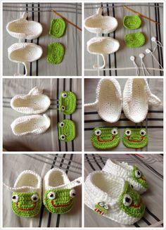 Bolso zapatos rana - Susu tejida a mano