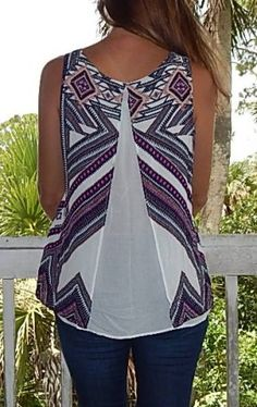 Stitch Fix Review Summer June 2015 Renee C Primavera Split Back Top