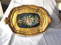 Golden Florentine Tray Beautiful Italian Gilded by StudioVintage