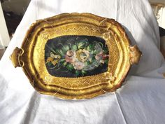 Golden Florentine Tray Beautiful Italian Gilded by StudioVintage