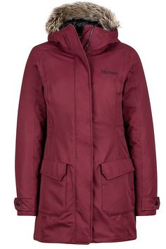 The Women's Nome Jacket is a powerful weather-resistant jacket that creates a warm and protective barrier between you and gruesomely cold and windy city conditions. The waterproof and breathable Marmot MemBrainⓇ fabric houses 700-fill-power down for supreme warmth. This jacket layers on the cozy details, which include a woven baffle lining, attached hood with removable fur ruff, micro fleece inner cuffs and handwarmer pockets.