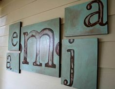 family initials (family room)....I love this