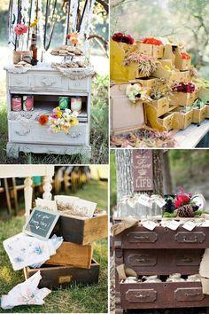 Hochzeitsblumen Dekoration in der schublade Vintage wedding 2014 2015 Hochzeit Dekoration Inspiration von optimalkarten.de