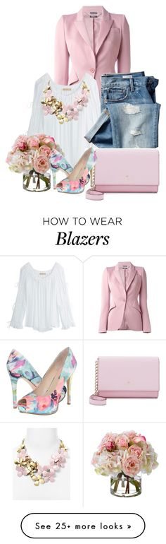 """""""Pretty Pink"""" by sophia561 on Polyvore featuring Alexander McQueen, Michael Kors, Gap, Kate Spade, Diane James, GUESS and BaubleBar"""