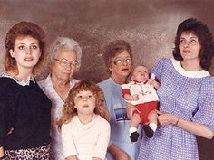 """One of the ladies in my bunco group is in this """"awkward family photo"""" that was on the Ellen show lol"""