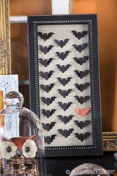 Specimen art so simple...it's scary. Go batty this Halloween!