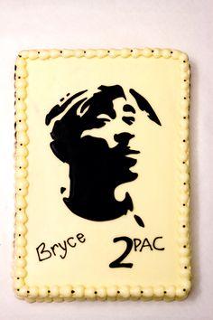2pac Tupac Shakur profile cake