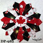 Canada Dresden Quilt Block - idea for other fussy cut center block Dresden Plate Patterns, Quilt Patterns, Flag Quilt, Quilt Blocks, Quilting Ideas, Quilting Projects, Paper Piecing, Canadian Quilts, Quilts Canada
