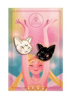 Sailor Moon fans rejoice! Always have Artemis and Luna by your side with these enamel pins. Live out your dreams as a sailor scout. Fight evil by moonlight and