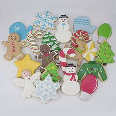 Christmas Cookie Cutter Set – 11 Piece – Holiday Shapes Include: Snowflake, Christmas Tree, Candy Cane, Reindeer and More – Ann Clark Cookie Cutters – US Tin Plated Steel