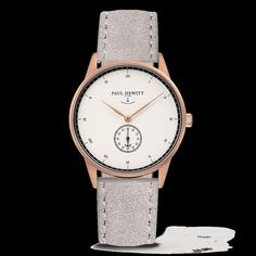 PAUL HEWITT Signature Line Uhr Roségold MARK I White Ocean Wildleder Grau - PAUL HEWITT - Shop