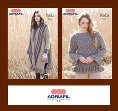 #lanalino o #lanacanapa? Due combinazioni naturali da provare nei filati #WoLi e #WoCa #Adriafil! I modelli Rosie e Liza li trovi su #Ravelry, qui: http://bit.ly/AdriafilRavelryPatternsStore