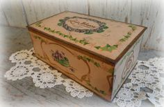 1930's louis sherry chocolate candy tin by AntiqueShopGirl on Etsy, $32.00