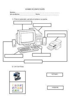 Exámen de computación Elementary Computer Lab, Computer Lab Lessons, Computer Lab Classroom, Kids Computer, Computer Teacher, Computer Basics, Computer Class, Technology Lessons, Computer Science