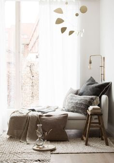 My new window nook / reading corner! My Scandinavian Home Blog.