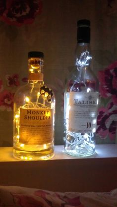 Recycled Monkey Shoulder and Talisker #whisky lamps