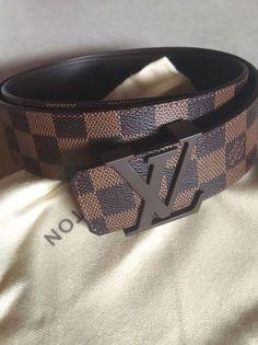 New Louis Vuitton Initiales Mens Belt Size Damier Ebene Louis Vuitton Mens Belt, Louis Vuitton Handbags, Lv Handbags, Cool Mens Belts, Gucci Jacket Mens, Bape, Fendi Belt, Luxury Belts, Prom Shoes