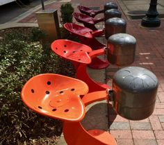 Artistic Steel Drums on Main Street in Columbia