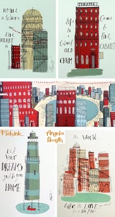 Fishinkblog 6138 Angela Smyth 7 Check out my blog ramblings and arty chat here www.fishinkblog.w... and my stationery here www.fishink.co.uk , illustration here www.fishink.etsy.com and here https://carbonmade.com/talent/fishink  Happy Pinning ! :)