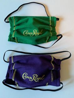 Excited to share this item from my #etsy shop: CROWN ROYAL MASK with elastic around head, adult reusable washable mask Easy Face Masks, Diy Face Mask, Coco Chanel Handbags, Crown Royal Bags, Designer Crossbody Bags, Junior Fashion, Vintage Handbags, Tote Handbags, Fashion Backpack