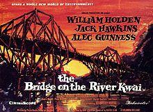 The Bridge On The River Kwai (1957) William Holden, Jack Hawkins, Alec Guinness (original poster)