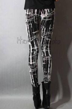 1ca995fffecc7e black & white printed leggings Girls Leggings, Cute Leggings, Best  Leggings, Tight
