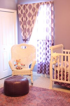 Purple Nursery with Bazaar accents