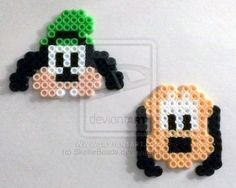 Walt Disney's Goofy and Pluto perler beads by SkellieBeads on deviantART